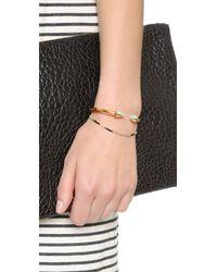 Vita Fede - Metallic Mini Titan One Side Stone Bracelet - Lyst