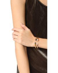 Vita Fede - Metallic Mini Titan Stone Crystal Line Bracelet - Lyst