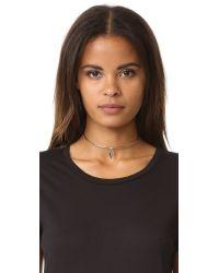 Vanessa Mooney - Metallic The Delorean Choker Necklace - Lyst