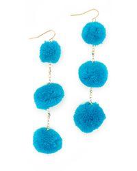 Vanessa Mooney - Blue The Dragnet Pom Earrings - Lyst