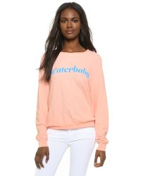 Wildfox - Pink Waterbaby Baggy Beach Top - Lyst