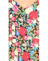 Wildfox - Multicolor Floral Maxi Dress - Lyst