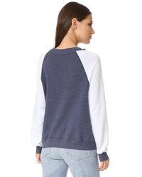 Wildfox - Blue Sommer Sweatshirt - Lyst