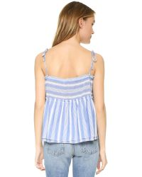 Young Fabulous & Broke - Blue Holland Top - Lyst