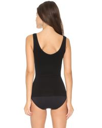 Yummie By Heather Thomson - Black Stephanie 2 Way Tank - Lyst