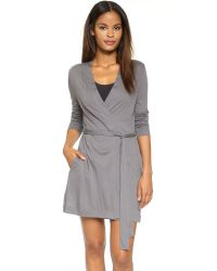 Yummie By Heather Thomson | Gray Short Robe | Lyst