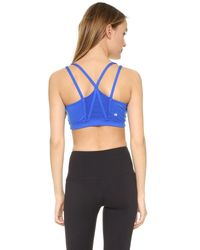 Yummie By Heather Thomson - Blue Sloan Strappy Racer Bra - Lyst