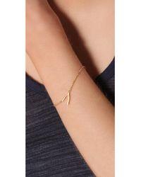 Jennifer Zeuner - Metallic Mini Wishbone Bracelet - Lyst