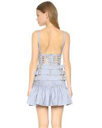 Zimmermann - Gray Havoc Rose Armour Dress - Lyst