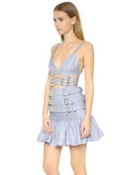 Zimmermann - Gray Havoc Rose Armour Dress - Lyst