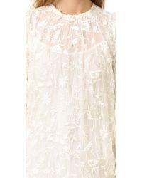 Zimmermann | White Master Embroidered Dress | Lyst