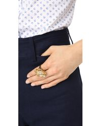 Kate Spade - Metallic Precious Poppies Ring - Lyst