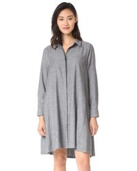 HATCH - Gray Maggie Flannel Dress - Lyst