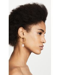 Mirit Weinstock - Multicolor Sparkling Hoop Earrings With Cultured Pearls - Lyst