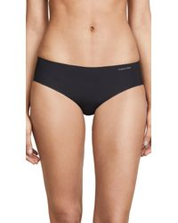 Calvin Klein - Black Invisibles Hipster Panties - Lyst