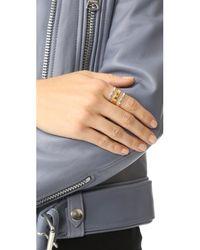 Maya Magal - Metallic Stripe Ring - Lyst