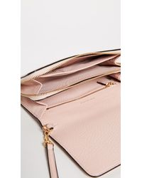 Tory Burch - Pink Mcgraw Flat Wallet Cross Body Bag - Lyst