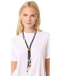 Lizzie Fortunato - Metallic Hemingway Navy Tassel Necklace - Lyst