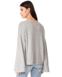 Elizabeth and James - Gray Everest Wide Boat Neck Sweater - Lyst