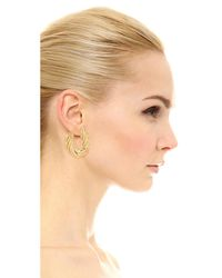 Soave Oro | Metallic Flat Twisted Earrings | Lyst