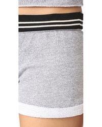 Monrow - Gray Vintage Cutoff Shorts - Lyst