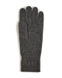 White + Warren - Gray Cashmere Cross Stitch Gloves - Lyst