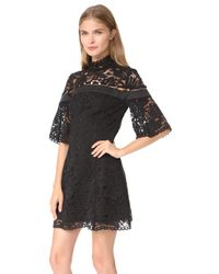 Keepsake - Black Star Crossed Lace Mini Dress - Lyst