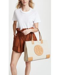 Tory Burch - Natural Ella Canvas Tote - Lyst