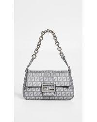 What Goes Around Comes Around. Women s Gray Fendi Grey Zucchino Mamma Mini  Bag 64435b8adc849