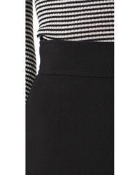 Theory - Black Highwaist Mini B Skirt - Lyst