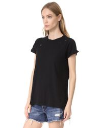 Wildfox - Black Destroyed Heights Crew Tee - Lyst