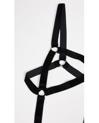 Coco De Mer - Black Persephone Open Bodysuit - Lyst
