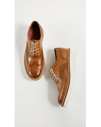 GRENSON - Brown Emily Loafers - Lyst