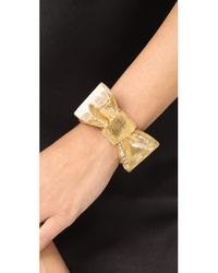 Kate Spade - Metallic All Wrapped Up Bow Cuff Bracelet - Lyst