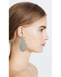 Anndra Neen - Metallic Pineapple Earrings - Lyst