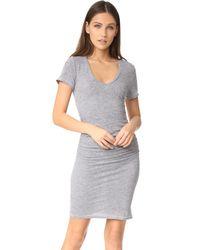 Lanston | Gray Ruched T-shirt Dress | Lyst