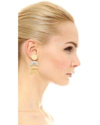 Madewell - Metallic Mixed Statement Earrings - Lyst