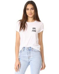 Private Party - White Girl Power Tee - Lyst