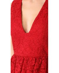 Alice + Olivia - Red Kappa Party Dress - Lyst