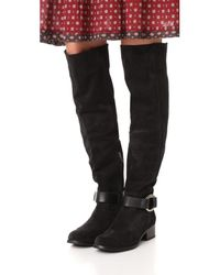 Frye - Black Kristen Harness Over The Knee Boots - Lyst