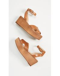 Joie - Brown Gabourey Flatform Sandals - Lyst