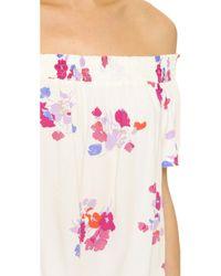 MINKPINK - Multicolor Falling Blooms Off Shoulder Top - Lyst