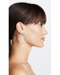 Shashi - Multicolor Double Circle Hoop Earrings - Lyst
