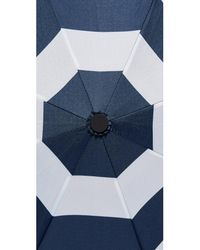 Kate Spade - Blue Jubilee Stripe Travel Umbrella - Lyst
