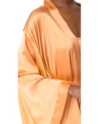 Nudwear - Orange Strawberries & Champagne Short Kimono - Lyst