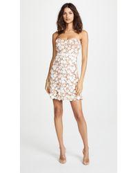 For Love & Lemons - White Beatrice Mini Dress - Lyst