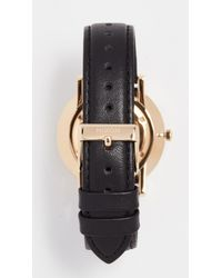 Nixon - Black Porter Leather Watch, 41mm - Lyst