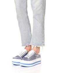 Marc Jacobs - Blue Grand Platform Sneakers - Lyst