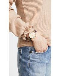 Nixon - Metallic Arrow Leather Watch, 34mm - Lyst
