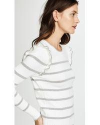 Cupcakes And Cashmere - White Bryant Ruffle Sleeve Sweater - Lyst